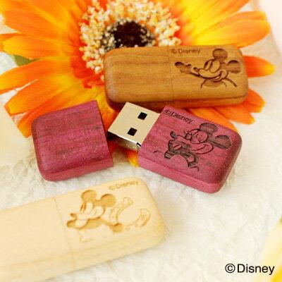 ■【16GB】ディズニーキャラクターの木製USBメモリの商品画像