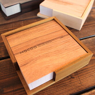 ■ using real wood & wooden memo pad tray set, gadgets / Scandinavian design