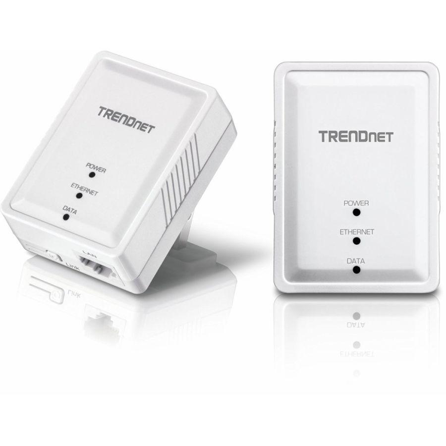 有線インターネットを簡単に拡大 500 AV アダプターキット PLC (電力線通信) で安定した通信 TRENDnet Powerline