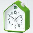 【動画あり】セイコー アラーム音切替(鳥の鳴き声)アナログ目覚まし時計(緑) NR434M グリーン【あす楽対応】