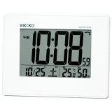 セイコー 大画面・温湿度電波デジタル目覚まし時計(白) SQ770W【あす楽対応】