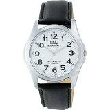 シチズン Q&Q 腕時計 SOLARMATE (ソーラーメイト) ソーラー電源 H008-304 ホワイト メンズ 【あす楽対応】