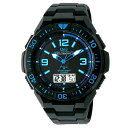 CITIZEN(シチズン) Q&Q 電波ソーラー腕時計 ソーラーメイト アナデジ表示 ブルー 10気圧防水 MD06-335 メンズ【あす楽対応】【コンビニ受取対応商品】