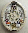 【動画あり】送料無料 セイコー ディズニータイム Disney からくり時計(白)電波時計 FW574W 【あす楽対応】