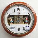 セイコー からくり時計 掛け時計 ウエーブシンフォニー 電波時計 RE559H 【動画あり】【あす楽対応】送料無料