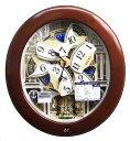 【動画あり】セイコー からくり時計 ウエーブシンフォニー 電波時計 茶 RE574B 【あす楽対応】掛け時計 メロディ 動画あり 送料無料