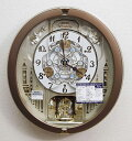 【動画あり】送料無料 セイコー 電波時計 からくり時計 壁掛け時計 RE573B ブラウン 【あす楽対応】