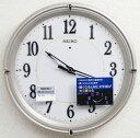 送料無料 セイコー ファインライトNEO 自動点灯アナログ 電波時計 掛け時計(薄金) KX393G 【あす楽対応】