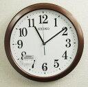 訳あり特価!セイコー 電波掛け時計 コンパクトサイズ プラスチック枠 茶 KX379B【あす楽対応】送料無料