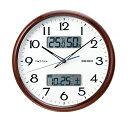送料無料★セイコー SEIKO 電波掛け時計 「ネクスタイム」 ZS252B 茶木目模様光沢仕上げ 【取り寄せ品】