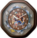 【動画あり】送料無料 リズム時計 アミューズ掛時計 ワンピースからくり時計【あす楽対応】