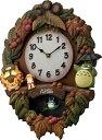 リズム時計 からくり時計 掛け時計 となりのトトロ 茶色ボカシ仕上げ 4MJ429-M06 送料無料