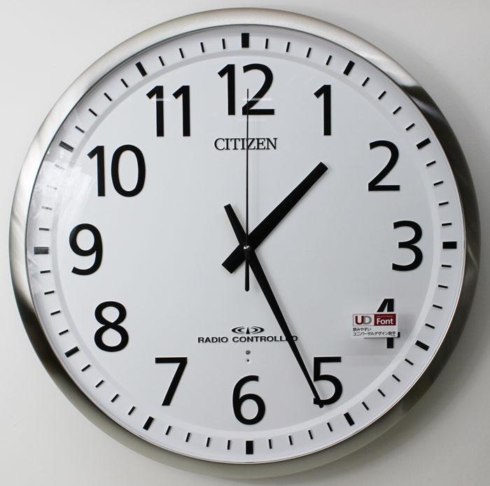 送料無料 シチズン リズム時計 電波掛け時計 スペイシーM465 8MY465-019 屋内用大型 ф55cm