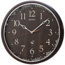 楽天木馬家具セイコー 電波掛け時計 Natural Style RX215B ナチュラルスタイル 連続秒針 おやすみ秒針 茶【あす楽対応】送料無料
