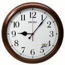 セイコークロック 電波掛け時計 超大型 50cm 木枠 連続秒針 電波時計 茶 KX238B【あす楽対応】 送料無料