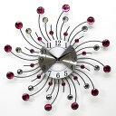 掛け時計 デザインウォールクロック サン YGZ-735B ピンク【あす楽対応】乾電池付