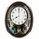 リズム時計 からくり時計 スモールワールド アルディ メロディ48曲 スワロフスキーエレメント 回転飾り 4MN545RH23 送料無料電波時計