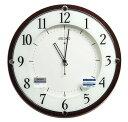 送料無料 訳あり特価!セイコークロック 電波掛時計 木枠(MDFウォルナットつき板貼り・茶木地塗装) KX373B【あす楽対応】