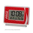 セイコークロック SEIKO コカ・コーラ 目覚まし時計 電波置き時計 デジタル 電波時計 温湿度表示 カレンダー AC606R 赤