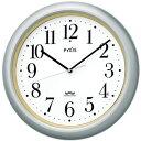 セイコー 電波時計 掛け時計 PYXIS (ピクシス)  おやすみ秒針 シンプル シルバーNA205S 【あす楽対応】