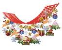 クリスマス・冬の装飾品 ハンガー ハートスノーマン