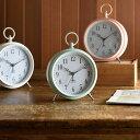 置き時計 目覚まし時計 パステルレトロアラームクロック ブルーノ BRUNO ステップムーブメント