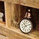 目覚まし時計 トリアナ CL-9707 インターフォルム 【レトロ 目覚まし時計 置時計 置き時計 ...