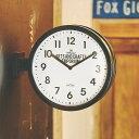 【ポイント10倍】時計 掛け置き時計 ロベストン CL-2138【インターフォルム interform 壁掛け時計 壁時計 アナログ クロック ダブルフェイス 両面時計 両面 西海岸 ブルックリン シンプル おしゃれ デザイン 新築祝い ギフト プレゼント オシャレ置き時計 バレンタイン】