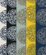 北欧デザイン 【ウニ】ぐるぐるドット柄 綿麻素材使用 生地幅110cm 注)個数1=10cmです。50cm以上からの販売です。
