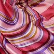 【レディース】【スカーフ】【メール便送料無料】スカーフ ライン柄 カラフルピンク  訳あり商品 大特価
