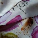 【レディース】【スカーフ】【メール便送料無料】スカーフ  大きな花 フラワー 花アート柄 パープルピンク 訳あり商品 大特価