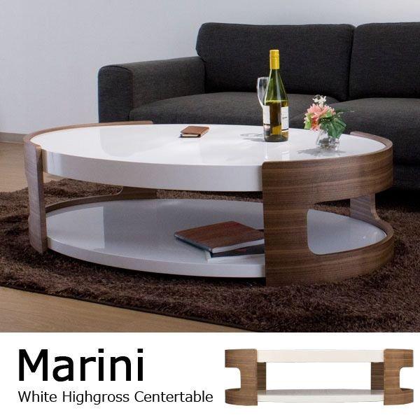 ホワイトハイグロス仕上げ センターテーブル / ...の商品画像