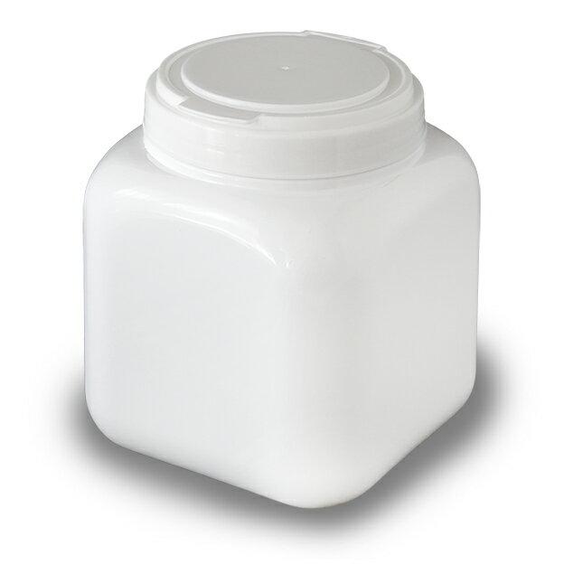 白い蓋のCube Canister