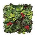 【メーカー直送・大感謝価格 】壁面緑化ミックス 947A1200 光触媒人工植物 光の楽園 2019 W100×D20×H100cm