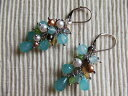 1 (aquamarine) Mona original pierced earrings 05P17May13