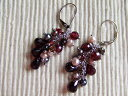 1 (garnet) Mona original pierced earrings 05P17May13