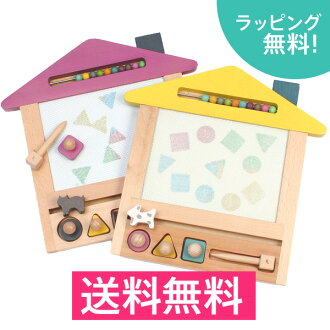 Quantity limited launches new gg * (Gigi) oekaki house (drawing House) wooden drawing board (oekaki boards) new baby birthday present popular educational toys ♪ Christmas tree toy (graffiti Board oekaki boards)