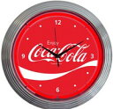 コカコーラ ウェーブネオンクロック壁掛時計
