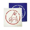 【メール便対象】奈良美智(ならよしとも)Yoshitomo Nara☆ バンダナ ハンカチ ピース・フラッグ 青 ブルー 白 ホワイト ブランド アート 犬 ブランド クリスマス ハロウィン バレンタイン