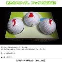 【おもしろ用品】矢印ボール3球セット BALL012 【ゴルフ】