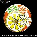 グリーン上で目立つ!メガマーカー MM-221 HONEY BEE GOLD Ver.オレンジ スワロフスキークリスタル付き メール便選択可能【ポイント2倍】【最安値に挑戦】【あす楽】