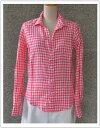 FRANK&EILEEN・フランク&アイリーンBARRY・ギンガムチェック麻シャツ(511070052)【カラー】21・ピンク