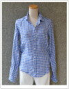 FRANK&EILEEN・フランク&アイリーンBARRY・ギンガムチェック麻シャツ(511070200)【カラー】73・ブルー