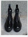 Pippichic/ピッピシックプラットフォームレースアップブーツ【カラー】ブラック/ブラックソール(PP14-ADSTWB1)