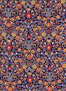 LIBERTYリバティプリントPalmeira(パルメイラ)国産エターナル柄黒地オレンジレッド&グレーグリーン3639035-ZE