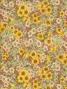 LIBERTYリバティプリントGloria Flowers(グロリアフラワーズ)国産エターナル柄DC10480-YEイエロー