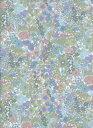LIBERTYリバティプリントMargaret Annie (マーガレット・アニー)国産エターナル柄3631165-EEブルー&サーモンピンク
