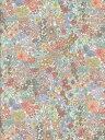 LIBERTYリバティプリントMargaret Annie (マーガレット・アニー)国産エターナル柄3631185-WE薄オレンジ&ブルー