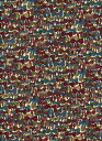 LIBERTYリバティプリントJenny's Ribbons(ジェニーズ・リボンズ)2017年秋冬カンバセーショナル柄カットクロスブラウン&ブルー
