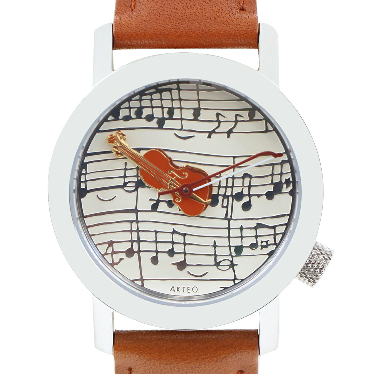 アクテオ AKTEO   腕時計  34mm STRAD VIOLIN  時計 ブラウン フランス製【05P03Dec16】【05P03Dec16】 正規品。アートとテクノロジーが完璧に融合!フランスの「時計の街」から歴史と伝統の確かな技術を。